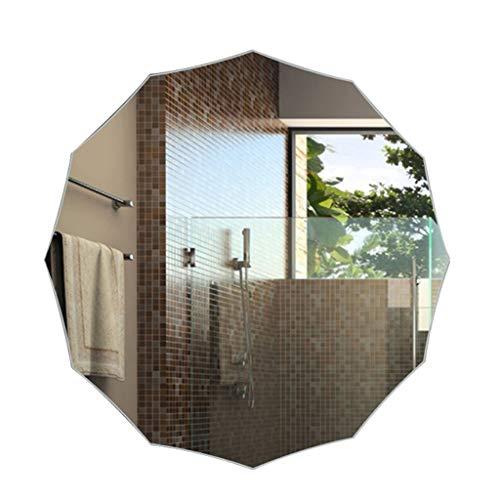 HUOQILIN moderne minimalistische vorm muur op maat Explosiebestendige ijdelheid spiegel badkamer spiegel badkamer spiegel frameloze muur opknoping badkamer spiegel