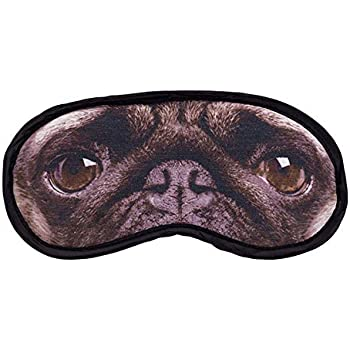 Diabolical Gifts DP0911 Pug Dog Eye Mask Comfortable Fun Travel Gift
