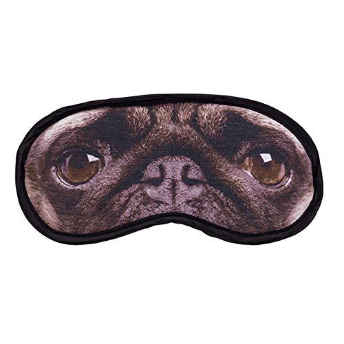 Diabolical Gifts DP0911 Masque pour œil de chien carlin confortable Cadeau de voyage amusant