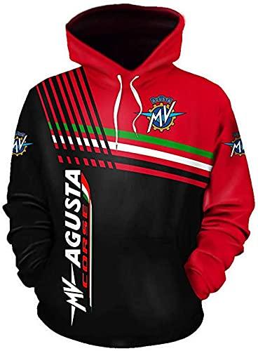 De gama alta personalizar M-V AG.UST.A 3D logo impresión suéter camisas deportes capucha otoño invierno manga larga sudadera con capucha para hombres ropa ropa