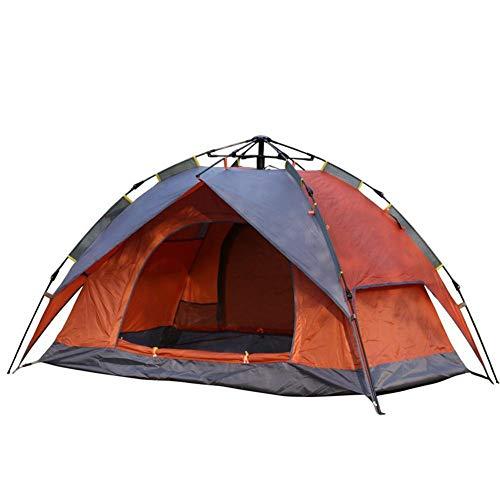 MIRAGE Zelt Outdoor Camping Double Wasserdicht Faltbares Automatik Zelt Schnell öffnen Wild Camping Zelt, Esche Orange