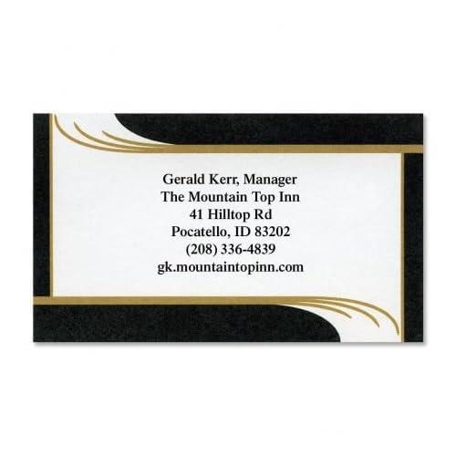 "Onyx Business Cards - Set of 250 2"" x 3-1/2"" custom business card design; 80# Cover Stock, Opaque, Matte"