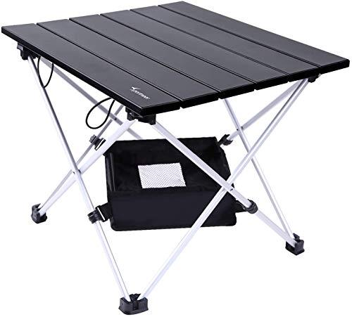 Tavolo da Campeggio Leggero, Sportneer Pieghevole in Alluminio Portatile con Valigetta e Borse di stoccaggio, Tavolino...