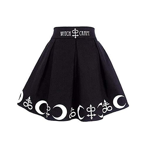 HongYa Women Gothic Skirt Summer Sexy Women Hoop Hollow out Skirts Sexy Women Black Iron Ring Female Mini Skirt Club Wear Goth-Black,XXL