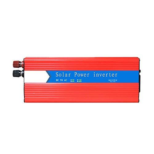 LYHY 3000W MAX Potencia Continua 6000W Surge Peak Power Inversor de Onda sinusoidal modificada DC 12V 24V a AC 220V Convertidor de energía Solar con 2 Puertos USB y Salidas de CA, Duradero