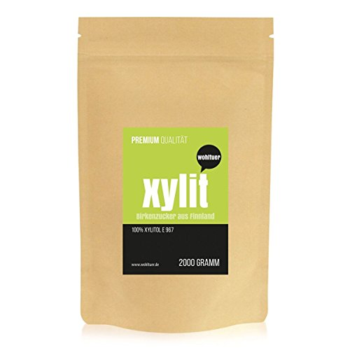 Wohltuer Xylit - Der Echte Birkenzucker aus Finnland 2000g | Das Original - garantiert ohne Maiszusatz | Natürlicher Zucker-Ersatz für gesunde Ernährung