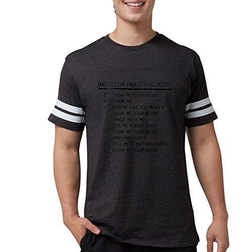 CafePress Bachelor Party Checklist Spray Painted T Shirt Mens Football Shirt