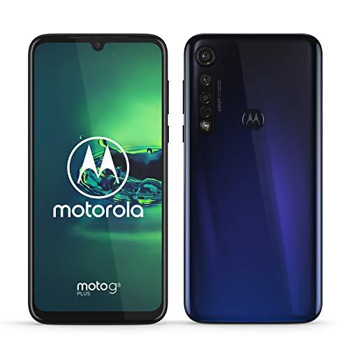 Motorola Moto g8 plus (pantalla de 6,3' FHD u-notch, cámara de 48 MP, altavoces Dolby stereo, 64 GB/ 4GB, Android 9.0, Dual SIM Smartphone), azul