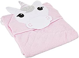 Hudson Baby Animal Hooded Towel, Unicorn, 33''x33''