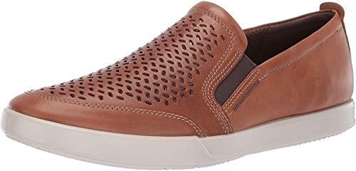 ECCO Men's Collin 2.0 Slip On Sneaker, Cashmere Perforated, 44 M EU (10-10.5 US)
