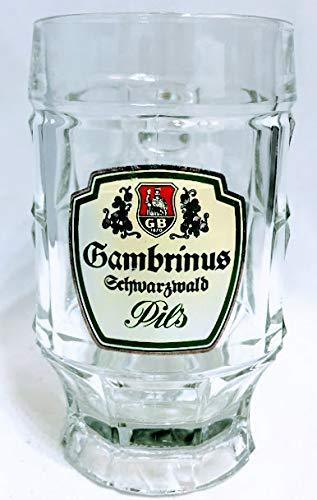 Gambrinus 0,3l Glas/Schwarzwald/Pils/Bierkrug/Bierseidel/Bierkrüge/Biergläser/Bier/Gastro/Bar/Sammler/Sammel / 6er Set