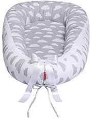 Scamp Premium babybo för spädbarn, resesäng, allergivänlig, 100% bomull, Öko-Tex 100 standard, med kokosnötmadrass.