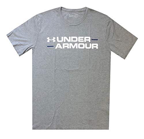 Under Armour Mens HeatGear Logo Graphic Cotton T-Shirt (M, Grey)