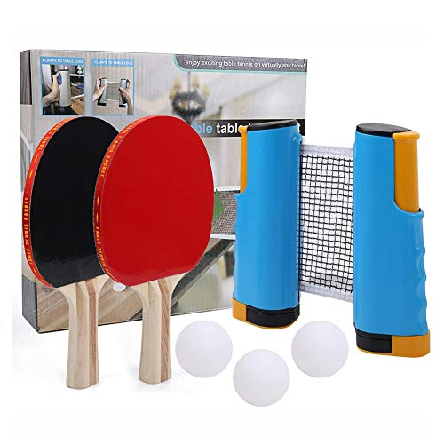 Why Choose Professional Ping Pong Paddle Set, with Retractable Net (Bracket Clamps) 3 Ping Pong Ball...