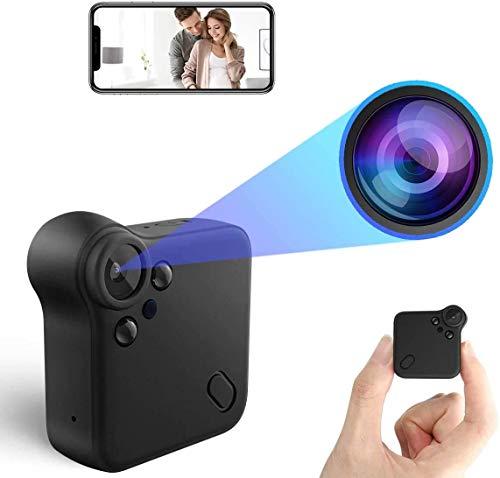 Mini Cámaras espía Oculta Mini Camara Espia WiFi Camaras de vigilancia 1080P HD Magnética Micro Camara Detector de Movimiento IR Visión Nocturna 150ºGran Angular Camaras de Pequeña