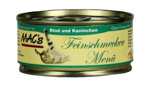 Mac\'s Katzenfutter getreidefrei Rind + Kaninchen, 100 g