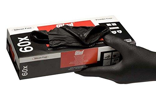 COLAD 60 Einweg Nitrile Handschuhe / Extra Schwarz (Größe: L)