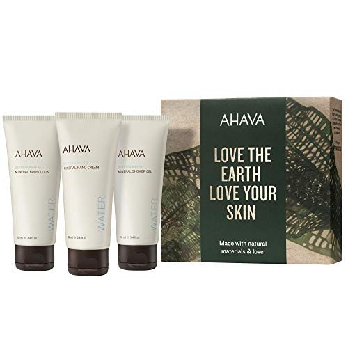 AHAVA Dead Sea Mineral Hand Cream Body Lotion and Shower Gel Value Set