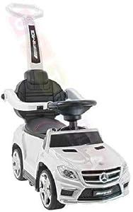 Coche para niños Correpasillo con función de Mecedora: Mercedes GL63 AMG SX1578 - Blanco