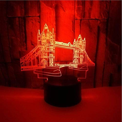 Nachtlicht Tourist Souvenirs Creative 3D Small Night Light Bridge Touch Colorful 3D Small Kids Lamp Christmas Decorating Lamp