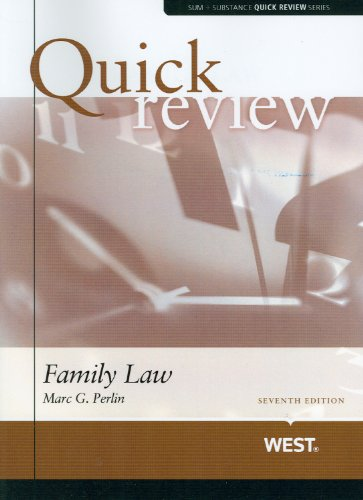 Sum and Substance Quick Review of Family Law (Quick Reviews)