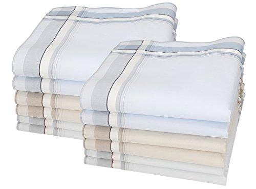 Betz Lot de 12 mouchoirs pour homme Lord 3 100% coton taille 43x43 cm ou 40x40 cm Couleur Dessin 158