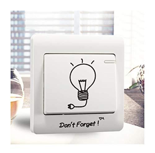 ZAOPP DIY Lindo Bombilla Interruptor Papel Higiénico Etiquetas Engomadas De La Pared Decoración del Hogar Dormitorio Salón De Decoración (Color : 03)