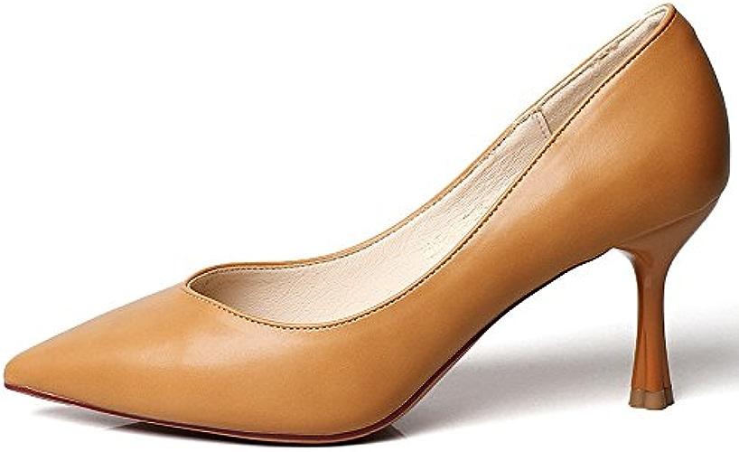 YMFIE Simple tempérament Stiletto Pointue Bouche Peu Profonde Sexy Talons Hauts Chaussures Simples Dames Travail Chaussures Chaussures de soirée