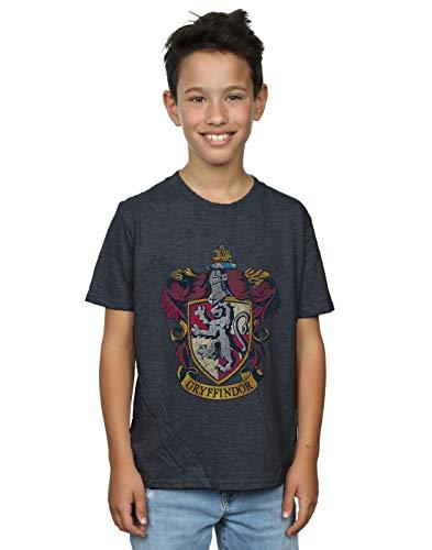 Harry Potter Jungen Gryffindor Distressed Crest T-Shirt 9-11 Years Dunkle Heather