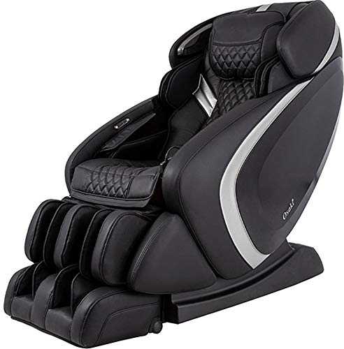 Osaki Os-Pro Admiral AS Massage Chair With LED Light Control In Black/Silver, Advanced 3D Technology, Auto Body Scan, L-Track Massage, Space Saving Technology, Zero Gravity Mode, 6 Massage Styles