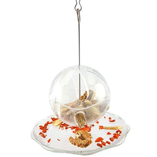 SH-RuiDu Loros Alimentador transparente colgante para pájaros loros periquito cacatúa