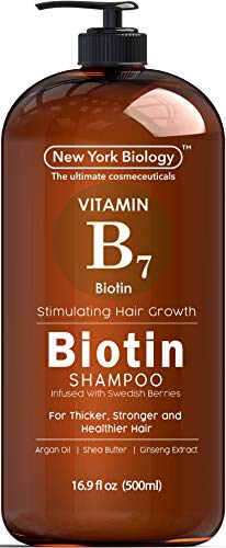 Biotin Shampoo for Hair Growth and Volume – Anti Dandruff Thickening Shampoo for Hair Loss and Thinning Hair – Volumizing, Nourishing and Safe for Color Treated Hair – 16.9 fl Oz