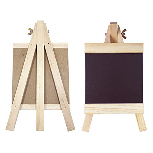 Standing Chalkboard Tabletop Mini Chalkboard Small Blackboard Stand Rustic Wooden A Frame Sign Decorative Chalkboards for Vintage Decor Kitchen, Restaurant, Bar Countertop, Wedding, and Home(2packs )