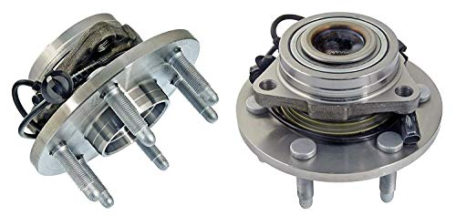 Bodeman - 4WD ONLY Pair 2 Front Wheel Bearing and Hub Assembly Driver and Passenger Side for 2007-2014 Cadillac Escalade and EXT and ESV/Chevy Tahoe/Suburban 1500 4X4
