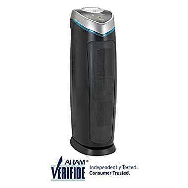 """GermGuardian AC4825 22"""" 3-in-1 Full Room Air Purifier, True HEPA Filter, UVC Sanitizer, Home Air Cleaner Traps Allergens, Smoke, Odors, Mold, Dust, Germs, Pet Dander, Energy Star Germ Guardian"""