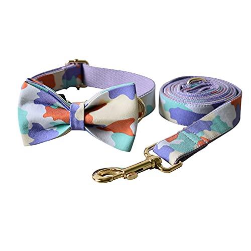 ZZCR Collares para Perros Mascotas Collares para Perros Teñidos Collares para Perros Collares para Perros Al Aire Libre Estaciones Deportivas Collares para Fiestas Disponibles A M