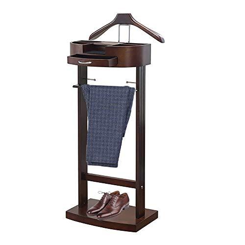 LOHOX Galán de Noche Mueble para Dormitorio Junior con cajón y Chasis Resistente Altura 106,6 x Anchura 34,2 x Profundidad 43,1 cm Madera Maciza para Hombre