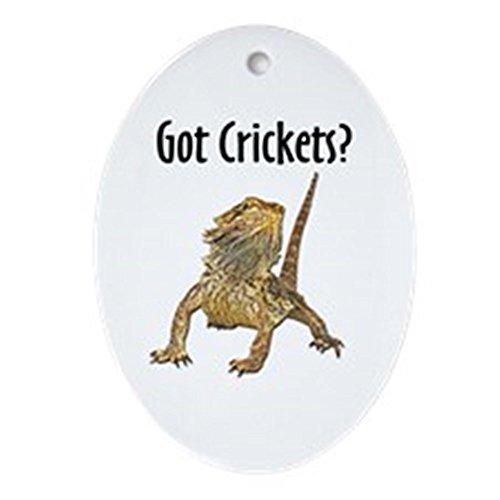 CafePress–Bearded Dragon Got Crickets–Oval vacaciones Navidad adorno