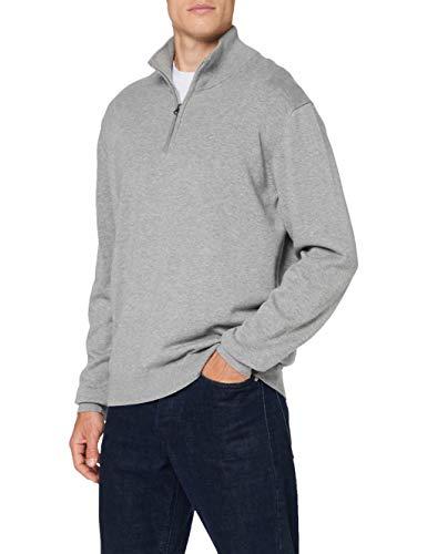 MUSTANG Herren Emil T Basic Pullover, Grau (Grau meliert 4140), S