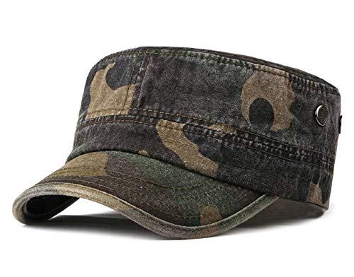 CHENNUO Army Cap Military mütze Herren Camouflage Baseball Cap Wandern Sport Militär Kappe (Armee grün)
