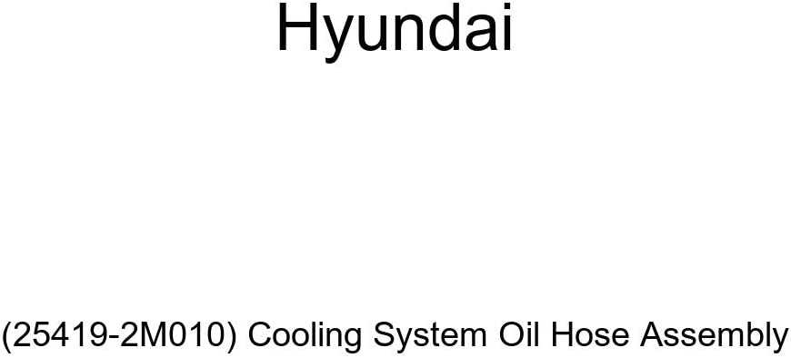 Genuine Special price Hyundai 25419-2M010 Cooling Max 59% OFF System Assembly Oil Hose