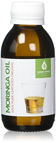 Organic Moringa Oil, Cold Pressed, Extra Virgin, 100% Pure, Food Grade