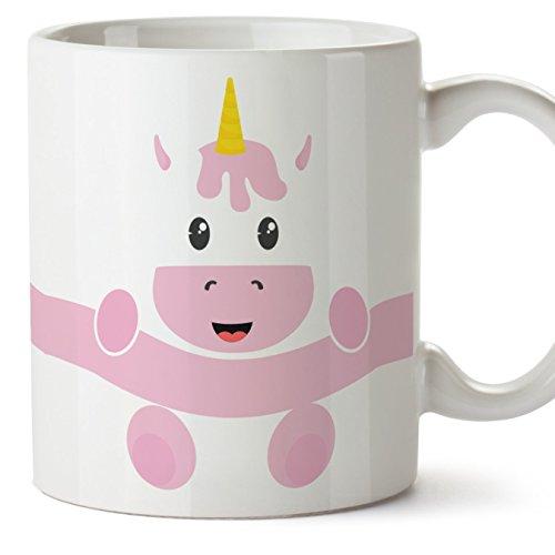 MUGFFINS Unicornio Tazas Originales de Desayuno - Animales Graciosos Ideas para Regalos - Cerámica 350 ml