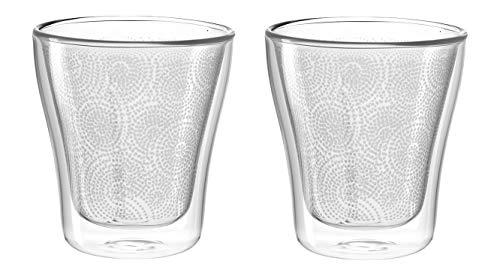 Leonardo Duo Dekor Becher, 2-er Set, 250 ml, hitzebeständig, handgefertigtes Glas mit Dekor, 029762