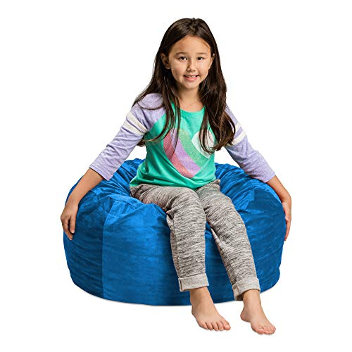 Sofa Sack - Plush, Ultra Soft Kids Bean Bag Chair - Memory Foam Bean Bag Chair with Microsuede Cover - Stuffed Foam Filled Furniture and Accessories For Kids Room - 2' Royal Blue
