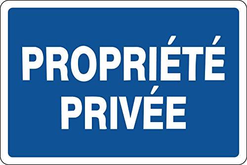 Panneau propriété privée - Plaque Aluminium 3mm 300mm x 200mm (Blue)