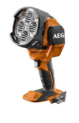 AEG Akku LED-Punktstrahler 18 V, mit Dimmfunktion, Baustrahler 2.100 Lumen, drehbarer Leuchtkopf, ohne Akku – BTL18-0