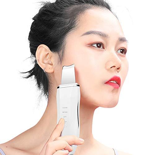Skin Scrubber Épurateur de Peau Épurateur Visage Ultrason pour Nettoyage de Pore Nettoyage de l'acné et Point Noirs Enlèvement du Visage USB Rechargeable Peeling Appareil de Massage Facial