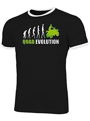 Quad Evolution 548 Motorsport Shirt Tshirt Fanartikel Fanshirt Männer Sportbekleidung Herren Ringer T-Shirts Schwarz Weiss Aufdruck Grün XL