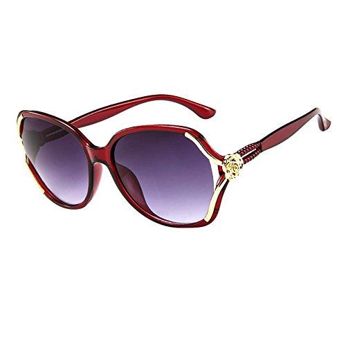 Wobang - Gafas de sol polarizadas de gran tamaño para mujer y mujer, con protección 100% UV400 558 Talla única